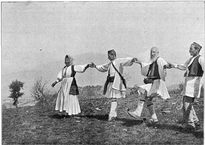 Een grieksche dans: De Syrtos.