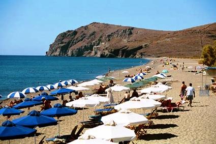 Strand Eressos Lesbos Griekenland
